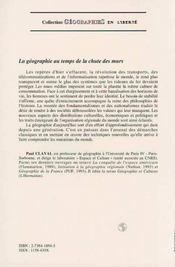 La Geographie Au Temps De La Chute Des Murs - 4ème de couverture - Format classique