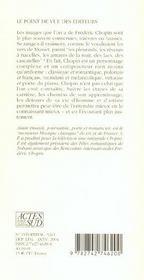 Chopin - 4ème de couverture - Format classique