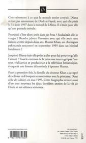 Le dernier amour de Diana - 4ème de couverture - Format classique