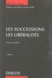 Les successions ; les libéralités (2e édition) - Intérieur - Format classique