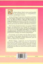 Elixirs De Fleurs Homoepathiques - 4ème de couverture - Format classique