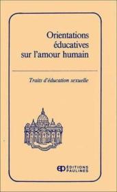Orientation educatives sur l'amour ... - Couverture - Format classique