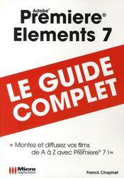 Premiere elements 7 - Couverture - Format classique