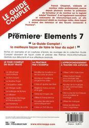 Premiere elements 7 - 4ème de couverture - Format classique
