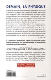 Demain, la physique (édition 2009) - 4ème de couverture - Format classique