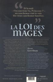 La loi des mages t.1 - 4ème de couverture - Format classique
