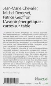 L'avenir énergétique, cartes sur table - Couverture - Format classique
