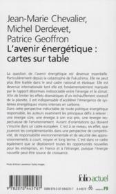 L'avenir énergétique, cartes sur table - 4ème de couverture - Format classique