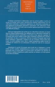 Les relations des collectivités territoriales avec les sociétés d'économie mixte locales ; recherche sur l'institutionnalisation d'un partenariat public-privé - 4ème de couverture - Format classique