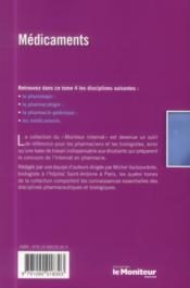 Le moniteur internat tome 4 4e ed medicaments - 4ème de couverture - Format classique