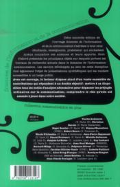 Les sciences de l'information et de la communication (2e édition) - 4ème de couverture - Format classique