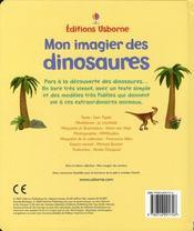 Mon imagier des dinosaures - 4ème de couverture - Format classique