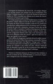 Poétique du concert ; à la lumière du tableau de Nicolas de Staël - 4ème de couverture - Format classique