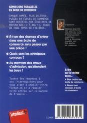 Admissions parallèles en école de commerce (11e édition) - 4ème de couverture - Format classique