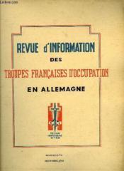 Revue D'Information Des Troupes Francaises D'Occupation En Allemagne - Numero 14 - Couverture - Format classique