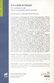 A la croisee du transect - 4ème de couverture - Format classique