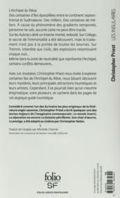 Les insulaires - 4ème de couverture - Format classique