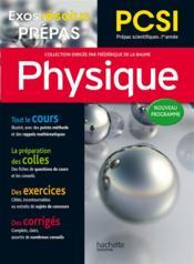 Exos résolus ; prépas physique ; PCSI - Couverture - Format classique