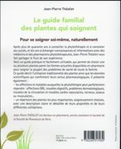 Le guide familial des plantes qui soignent - 4ème de couverture - Format classique
