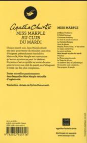 Miss Marple au club du mardi - 4ème de couverture - Format classique