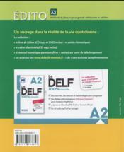 Édito ; FLE ; niveau A2 ; cahier d'activités + CD MP3 - 4ème de couverture - Format classique