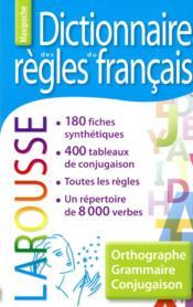 Dictionnaire des règles du français - Couverture - Format classique