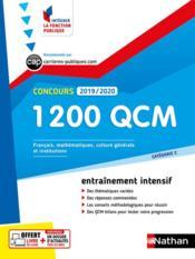 Concours ; 1200 QCM ; catégorie C (édition 2019/2020) - Couverture - Format classique