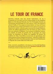 Le tour de France ; petites histoires et grandes legendes - 4ème de couverture - Format classique