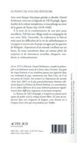 Le roman de Tyll Ulespiègle - 4ème de couverture - Format classique