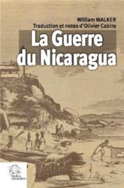 La guerre du Nicaragua - Couverture - Format classique