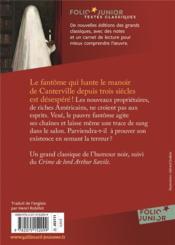 Le fantôme de Canterville - 4ème de couverture - Format classique