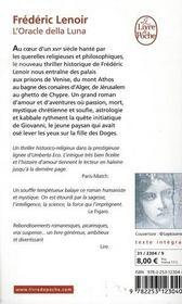 L'oracle della luna - 4ème de couverture - Format classique