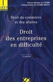 Droit du commerce et des affaires t.3 ; droit des entreprises en difficulté - Intérieur - Format classique
