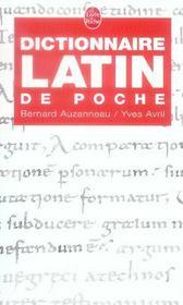 Dictionnaire latin de poche - Intérieur - Format classique