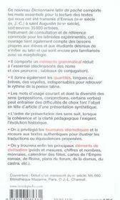Dictionnaire latin de poche - 4ème de couverture - Format classique