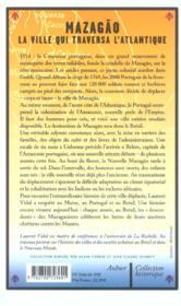 Mazagao, la ville qui traversa l'atlantique - du maroc a l'amazonie (1769-1783) - 4ème de couverture - Format classique