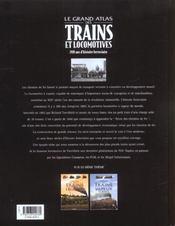 Le Grand Atlas Des Trains Et Locomotives - 4ème de couverture - Format classique