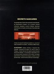 Secrets bancaires t.2.1 ; blanchiment - 4ème de couverture - Format classique