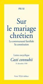Sur le mariage chrétien - Couverture - Format classique