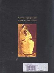 Notes de route - 4ème de couverture - Format classique