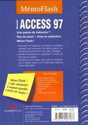 Access 97 -Mémento, Microsoft - 4ème de couverture - Format classique