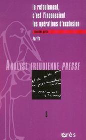 Analyse Freudienne T.2 - Intérieur - Format classique