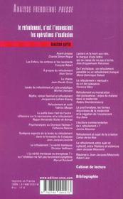 Analyse Freudienne T.2 - 4ème de couverture - Format classique