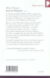 Jean le pérégrin - 4ème de couverture - Format classique