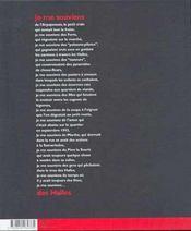 Je me souviens des halles -nouvelle edition- (édition 2001) - 4ème de couverture - Format classique