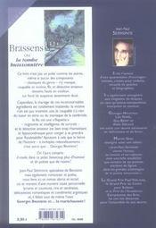 Brassens ou la tombe buissonnière - 4ème de couverture - Format classique