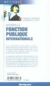 Intégrer la fonction publique internationale (4e édition) - 4ème de couverture - Format classique