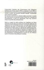 Archéologie sous-marine et musée - 4ème de couverture - Format classique