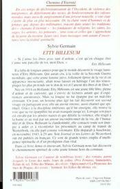 Etty Hillesum - 4ème de couverture - Format classique