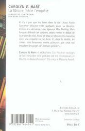 La libraire mène l'enquête - 4ème de couverture - Format classique